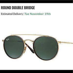 ❤️💯 BRAND NEW Round Double Bridge Ray-Bans